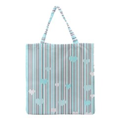 Cyan Love Grocery Tote Bag by Valentinaart