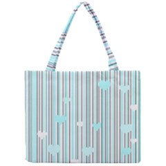 Cyan Love Mini Tote Bag by Valentinaart