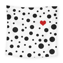 Dots And Hart Square Tapestry (large)