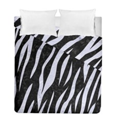 Skin3 Black Marble & White Marble Duvet Cover Double Side (full/ Double Size) by trendistuff