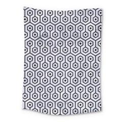 Hexagon1 Black Marble & White Marble (r) Medium Tapestry