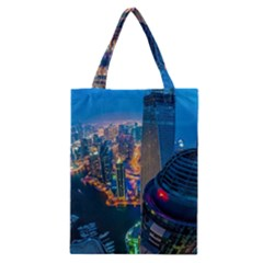 City Dubai Photograph From The Top Of Skyscrapers United Arab Emirates Classic Tote Bag by Onesevenart