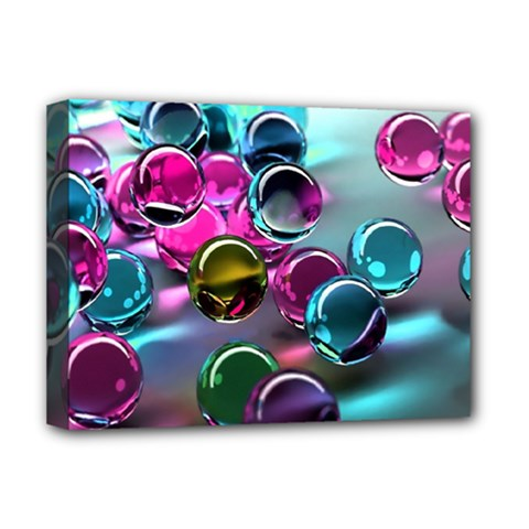 Colorful Balls Of Glass 3d Deluxe Canvas 16  X 12   by Onesevenart