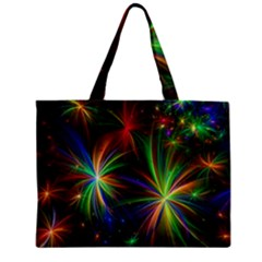 Colorful Firework Celebration Graphics Zipper Mini Tote Bag by Onesevenart