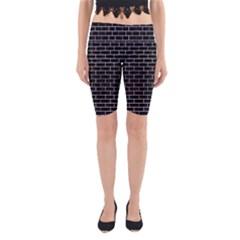 BRK1 BK-WH MARBLE Yoga Cropped Leggings by trendistuff