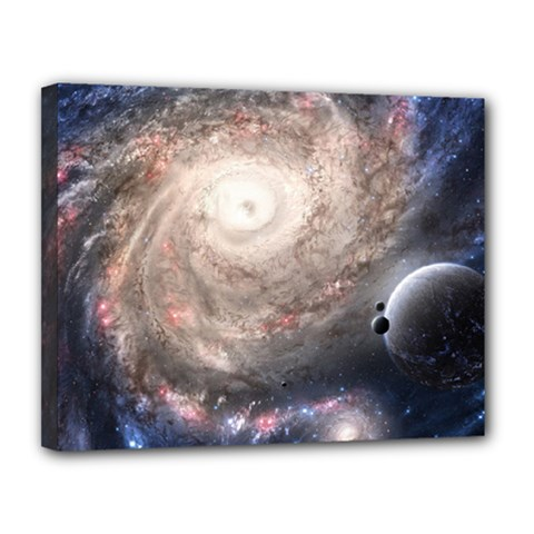 Galaxy Star Planet Canvas 14  X 11  by Onesevenart