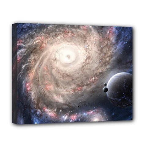 Galaxy Star Planet Deluxe Canvas 20  X 16   by Onesevenart