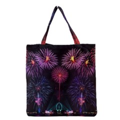 Happy New Year New Years Eve Fireworks In Australia Grocery Tote Bag by Onesevenart