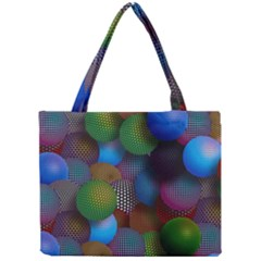 Multicolored Patterned Spheres 3d Mini Tote Bag by Onesevenart