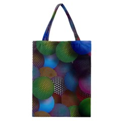 Multicolored Patterned Spheres 3d Classic Tote Bag by Onesevenart