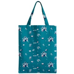 Space Astronaut Zipper Classic Tote Bag by AnjaniArt