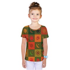 Space Month Saturnus Planet Star Hole Black White Multicolour Orange Kids  One Piece Tee by AnjaniArt