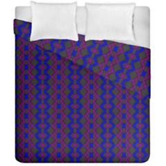 Split Diamond Blue Purple Woven Fabric Duvet Cover Double Side (california King Size) by AnjaniArt