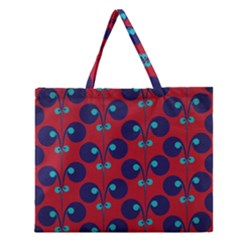 Texture Bright Circles Zipper Large Tote Bag by AnjaniArt