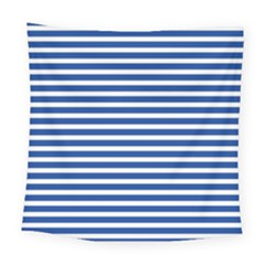 Horizontal Stripes Dark Blue Square Tapestry (large) by AnjaniArt