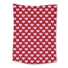 Hearts Love Valentine Pink Day Happy Wallpaper Medium Tapestry