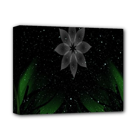 Night Sky Flower Deluxe Canvas 14  X 11  by AnjaniArt