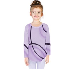 Purple Background With Ornate Metal Criss Crossing Lines Kids  Long Sleeve Tee