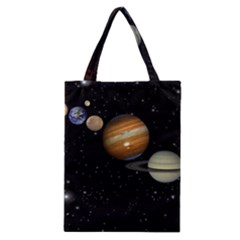 Outer Space Planets Solar System Classic Tote Bag by Onesevenart