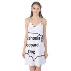 Catahoula Leopard Dog United States Outline Camis Nightgown by TailWags