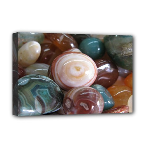 Rain Flower Stones Is A Special Type Of Stone Deluxe Canvas 18  x 12   by Onesevenart