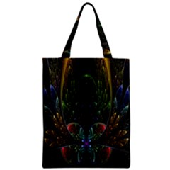Rose Flower Floral Gold Zipper Classic Tote Bag by AnjaniArt