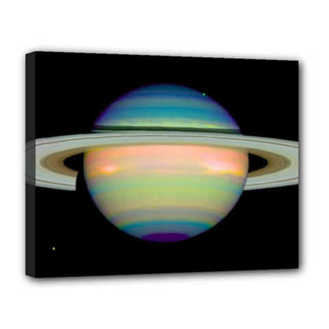 True Color Variety Of The Planet Saturn Canvas 14  X 11  by Onesevenart