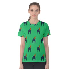 Comb Disco Green Women s Cotton Tee by AnjaniArt