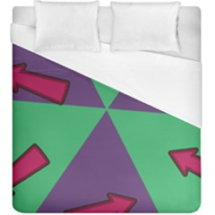 Daily Spinner Signpost Duvet Cover (King Size) by AnjaniArt
