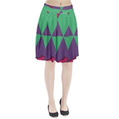 Daily Spinner Signpost Pleated Skirt by AnjaniArt