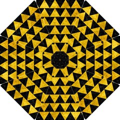 Triangle2 Black Marble & Yellow Marble Hook Handle Umbrella (small) by trendistuff