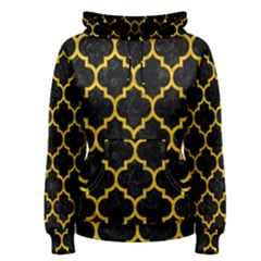 Tile1 Black Marble & Yellow Marble Women s Pullover Hoodie