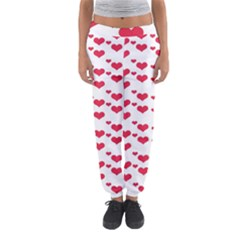 Heart Love Pink Valentine Day Women s Jogger Sweatpants by AnjaniArt