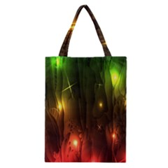 Fractal Manipulations Raw Flower Colored Classic Tote Bag by AnjaniArt