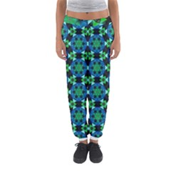 Background Star Colour Green Blue Women s Jogger Sweatpants by AnjaniArt