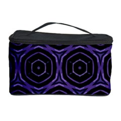 Background Colour Purple Circle Cosmetic Storage Case by AnjaniArt