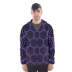 Background Colour Purple Circle Hooded Wind Breaker (Men) by AnjaniArt