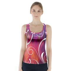 Brushes Chevron Racer Back Sports Top by AnjaniArt