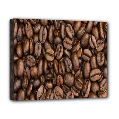 Coffee Beans Deluxe Canvas 20  X 16   by AnjaniArt