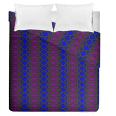 Diamond Alt Blue Purple Woven Fabric Duvet Cover Double Side (Queen Size) by AnjaniArt