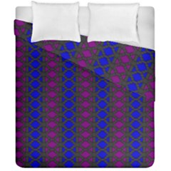 Diamond Alt Blue Purple Woven Fabric Duvet Cover Double Side (california King Size) by AnjaniArt