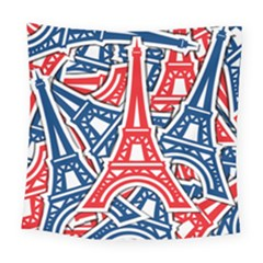 Eiffel Tower Paris Perancis Square Tapestry (large) by AnjaniArt