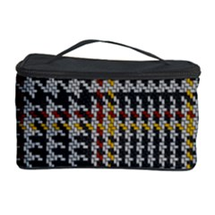 Glen Woven Fabric Cosmetic Storage Case by AnjaniArt