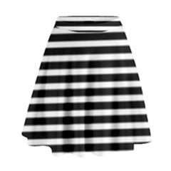 Horizontal Stripes Black High Waist Skirt by AnjaniArt
