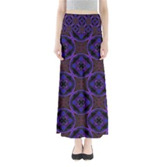 Background Colour Blue Flower Maxi Skirts by AnjaniArt