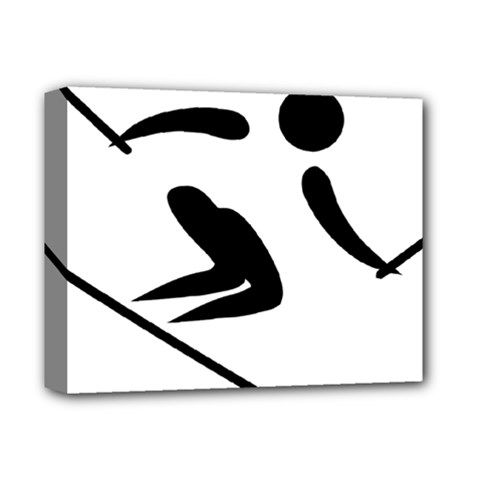 Alpine Skiing Pictogram  Deluxe Canvas 14  X 11  by abbeyz71