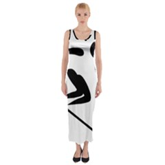 Alpine Skiing Pictogram  Fitted Maxi Dress by abbeyz71