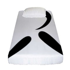 American Football Pictogram  Fitted Sheet (single Size) by abbeyz71