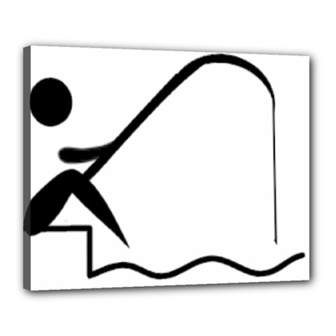 Angling Pictogram Canvas 20  X 16  by abbeyz71