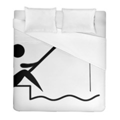 Angling Pictogram Duvet Cover (full/ Double Size) by abbeyz71